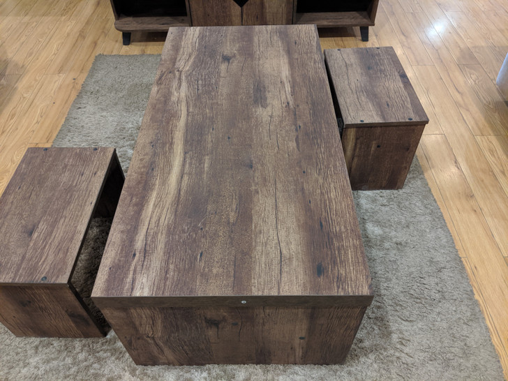 Natad Coffee Table 3pc Set (in French Oak)