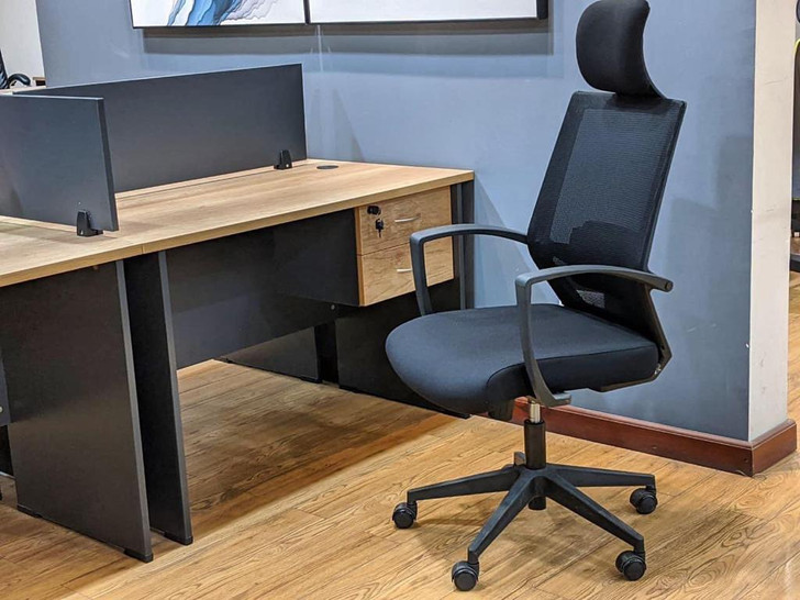 Coney Desk With 2 Drws 1200 X 600 In MC02/Dark Grey-OUT OF STOCK