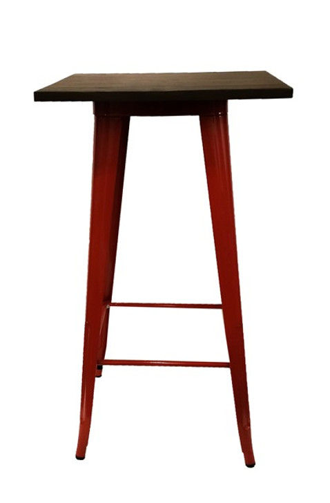 Bistro Bar Table In Red