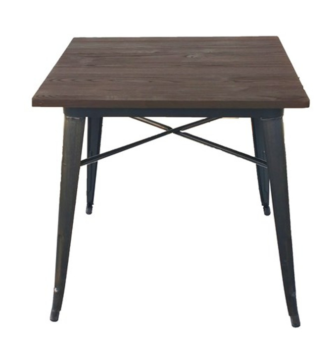 Bistro Metal Table In Sanded Black/Brushed Gold