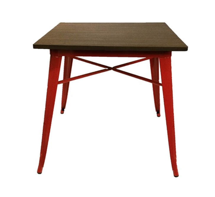 Bistro Metal Table In Red