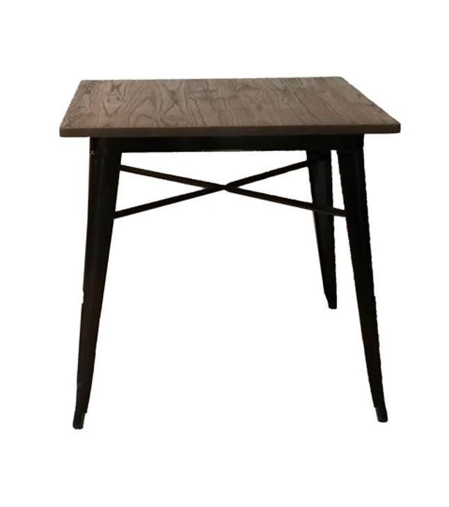 Bistro Metal Table In Black