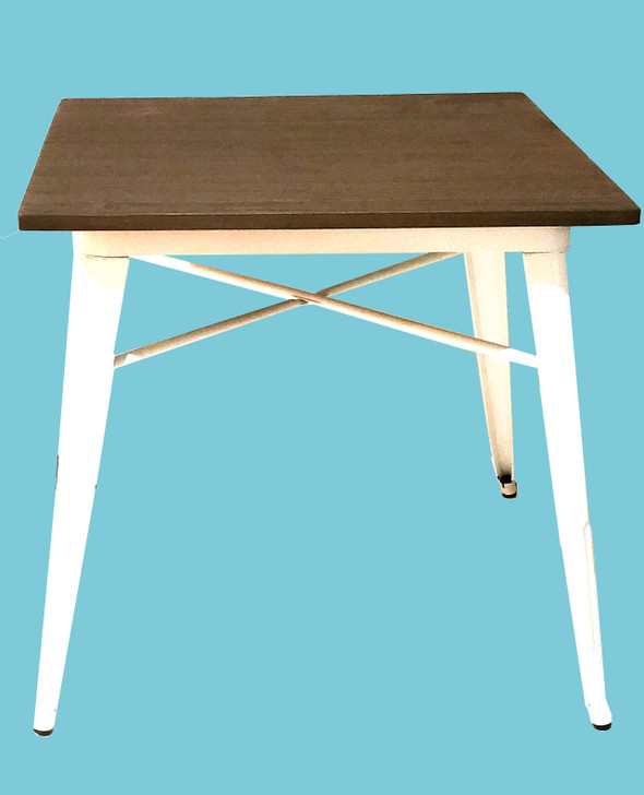 Bistro Metal Table In White
