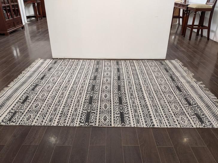 Cotton Block Print Dhurrie  - 1.6m X 2.3m