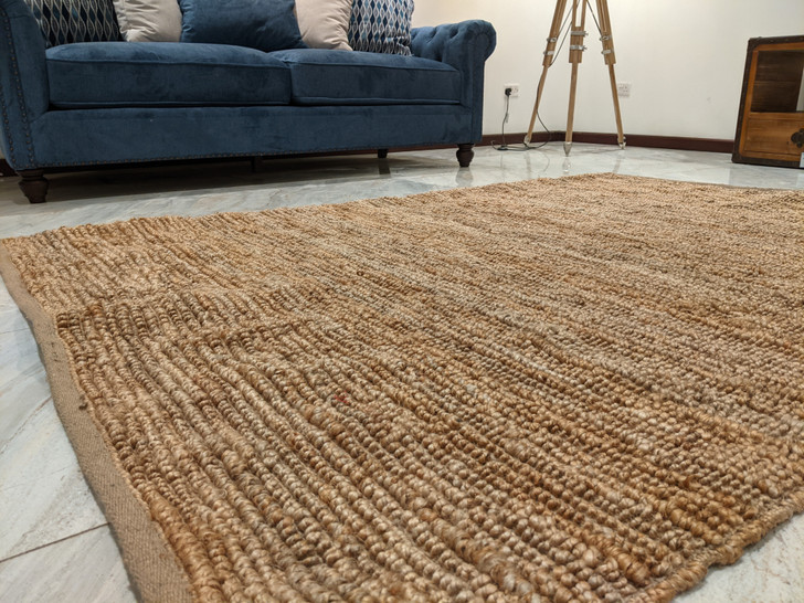 Loop Shuttle Weave Dhurrie  -(MH-1708) Natural - 1.6m X 2.3m