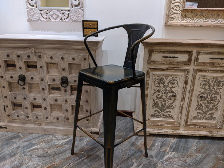 Tolix LB Bar Chair  In Worn Patina -OUT OF STOCK