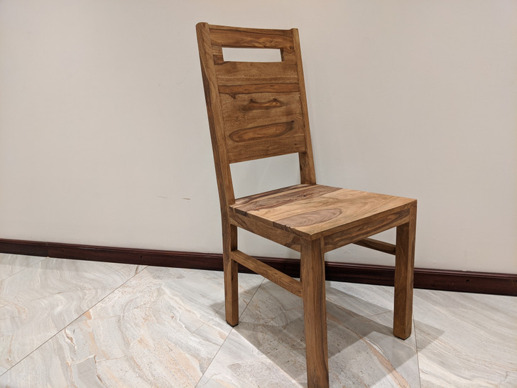 Tabasco Solid Back Dining Chair In Sheesham