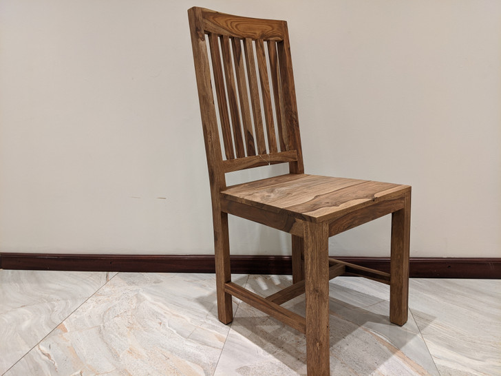 Tabasco Slate Back Dining Chair In Sheesham