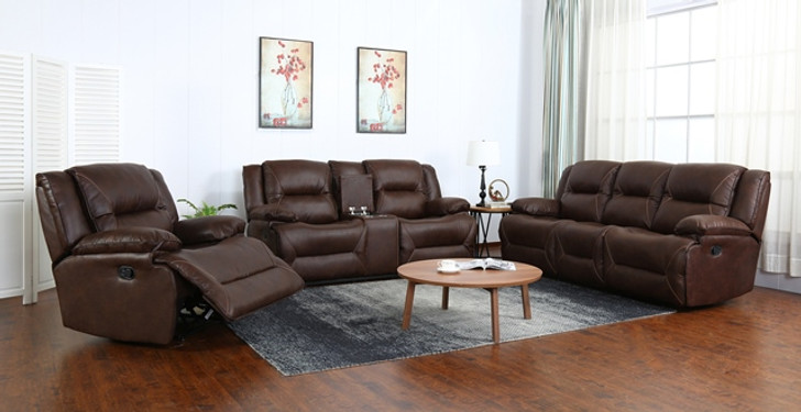 Napa 6 Seater Recliner In Brown - OUT OF STOCK