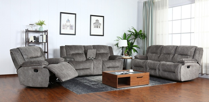Napa 6 Seater Recliner In Grey