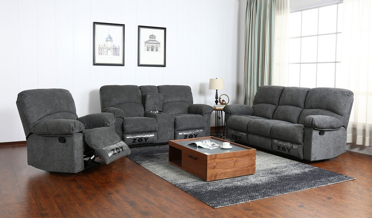 Iris 6 Seater Recliner In Grey - OUT OF STOCK
