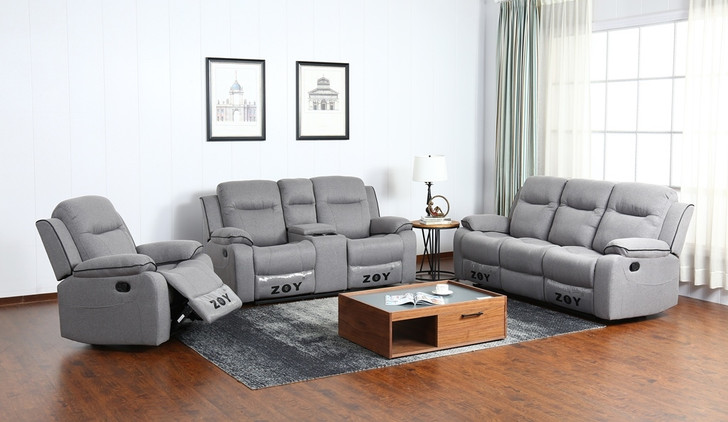 Daisy 6 Seater Recliner In Grey