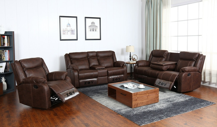 Maya 6 Seater Recliner In Brown - OUT OF STOCK