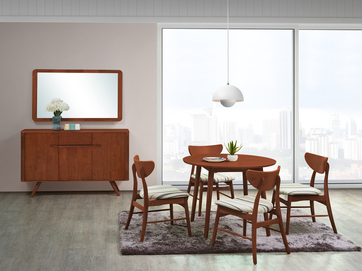 Osaka 4 Seater Round Dining Table In Dirty Oak-OUT OF STOCK