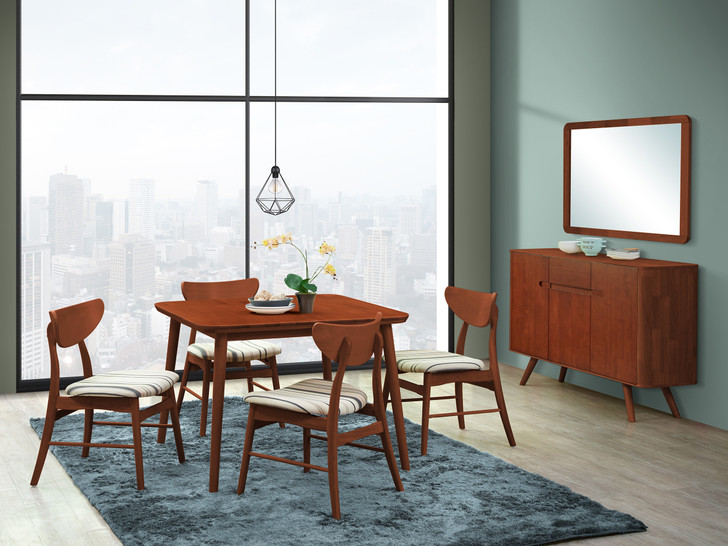 Athens 4 Seater Square Dining Table In Dirty Oak - OUT OF STOCK