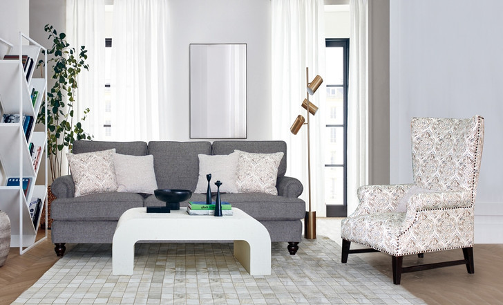 Hampton 8 Seater Sofa with Grey Floral - OUT OF STOCK