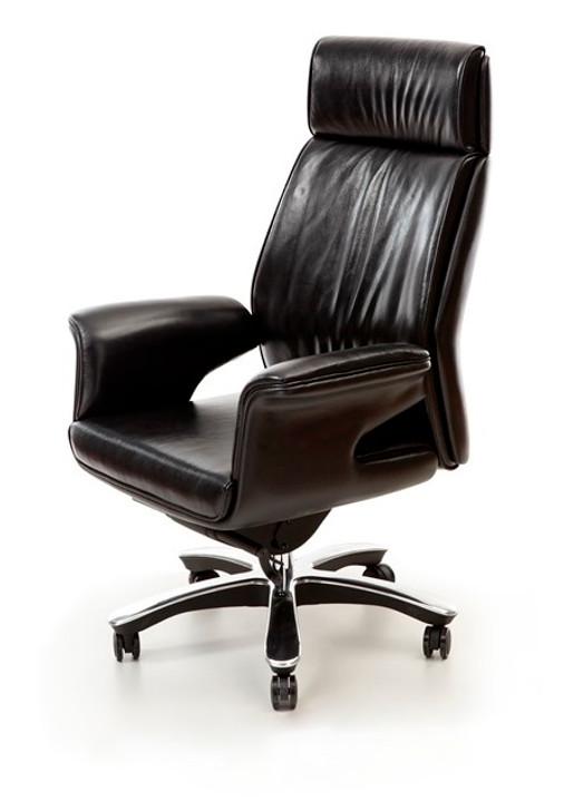 HB Chair Walk-A In Black Italian Leather