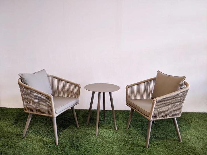Lulin 3pc Balcony Set - 2 Chairs + Stool