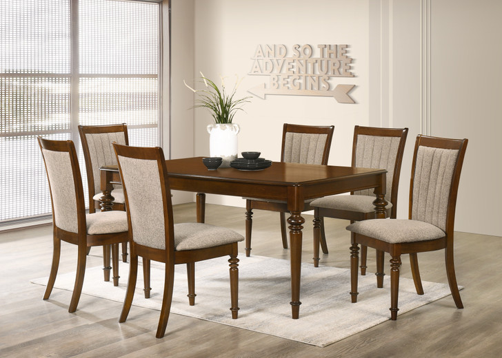 Nilson 7PC Dining Set In Ant. Oak