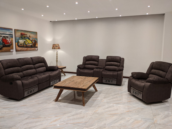 Parga 6 Seater Recliner in Brown - OUT OF STOCK