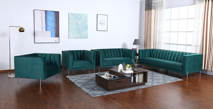 Stella 6 Seater Sofa in Green - OUT OF STOCK
