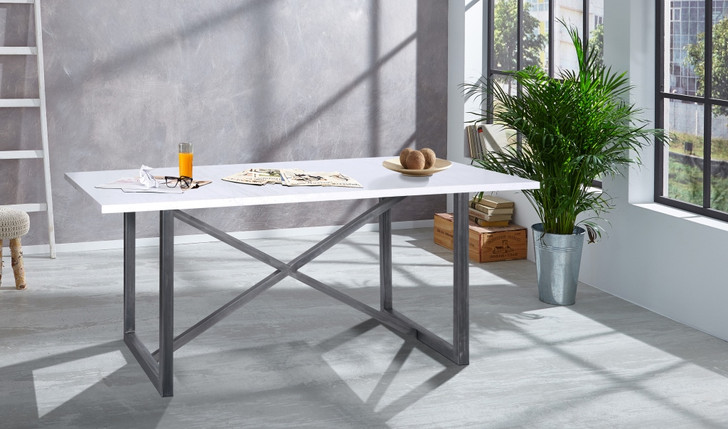 Salt & Pepper Dining Table 1.8m X 0.9m In Stone