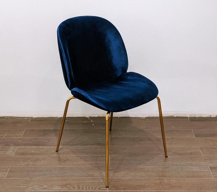 Beetle Bistro Chair - (Dark Blue/Navy Velvet) - OUT OF STOCK