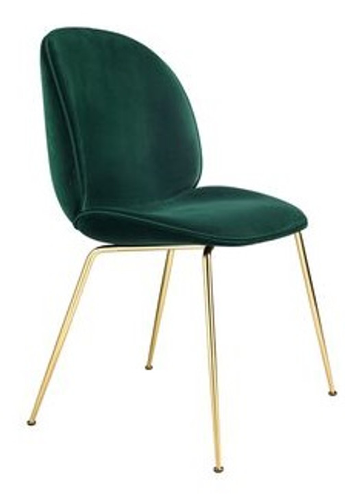 Beetle Bistro Chair - (Bottle Green Velvet) - OUT OF STOCK