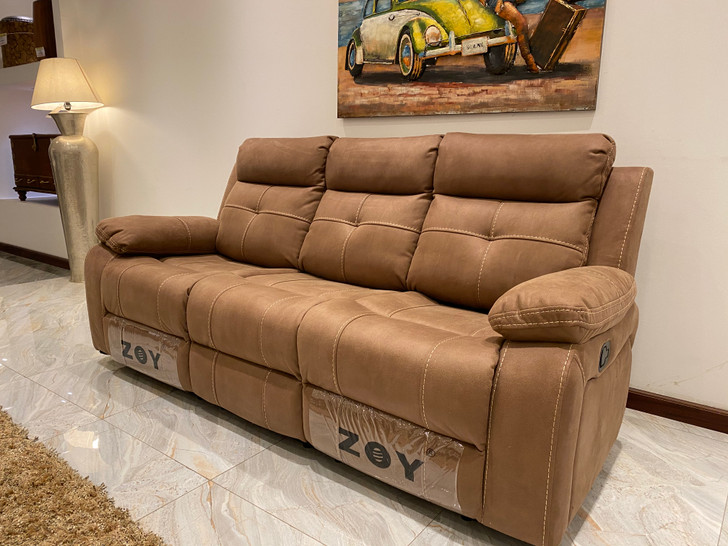 Tavion 6 Seater Recliner In Mocha - OUT OF STOCK