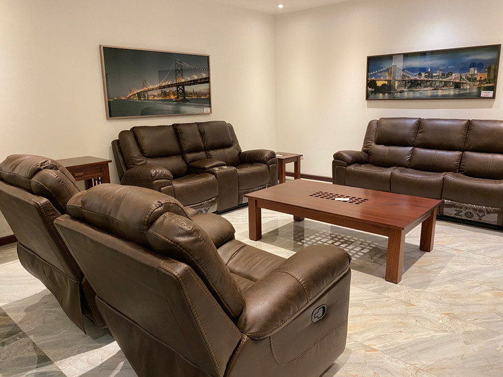 Lucca 7 Seater Recliner  in Brown - OUT OF STOCK