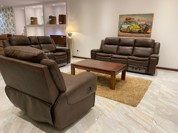 Hayley 6 Seater Recliner In Brown - OUT OF STOCK
