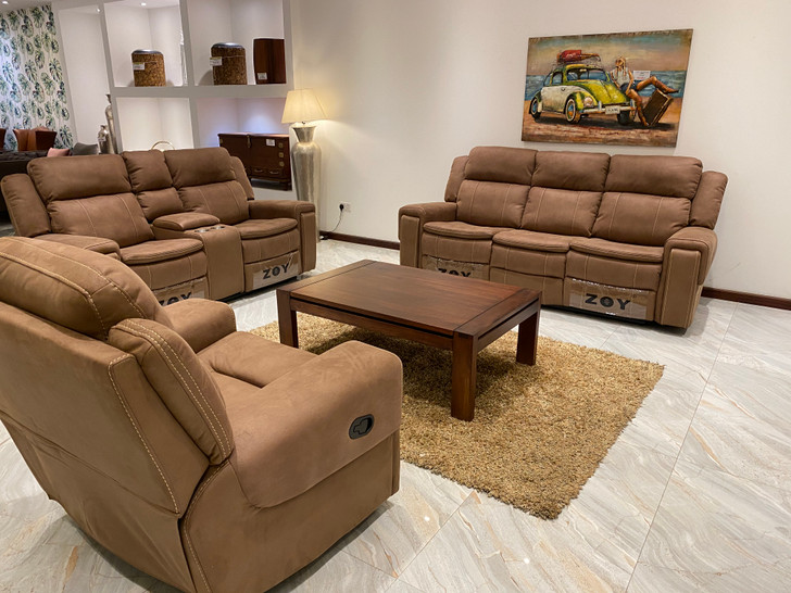 Hayley 6 Seater Recliner In Mocha - OUT OF STOCK