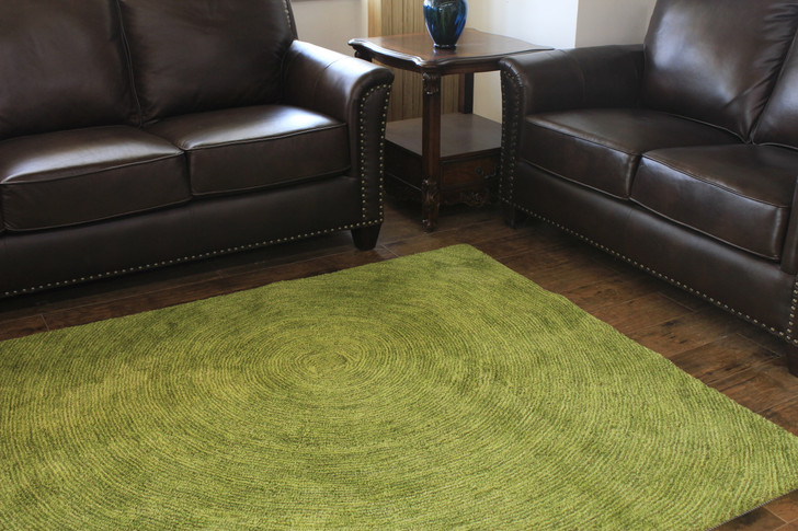 Growing Ring Rug in Green - 1.6m X 2.3m