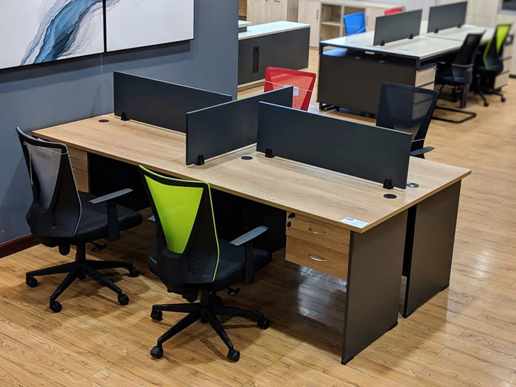 Coney 4 Part Workstation 2.4m*1.2m -OUT OF STOCK
