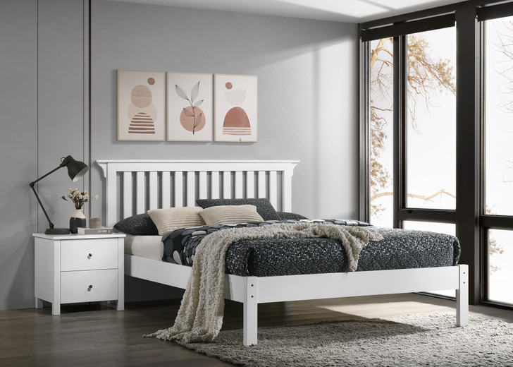 Imara Bed in White - Queen