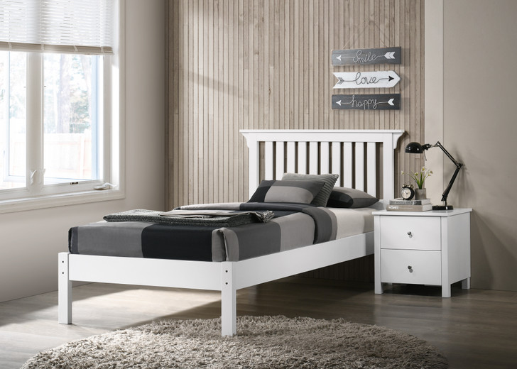 Imara Bed in White - Single