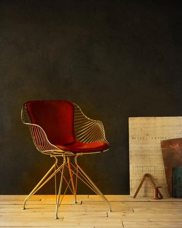 Replica O&D Wire Dining Chair  In Gold