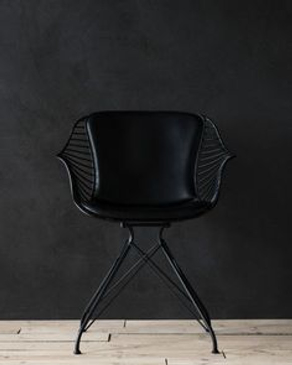 Replica O&D Wire Dining Chair -  In Black-OUT OF STOCK