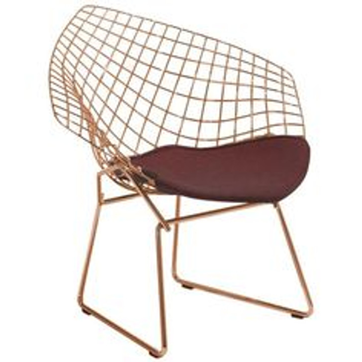 Replica Bertoia Diamond Chair In Gold -OUT OF STOCK