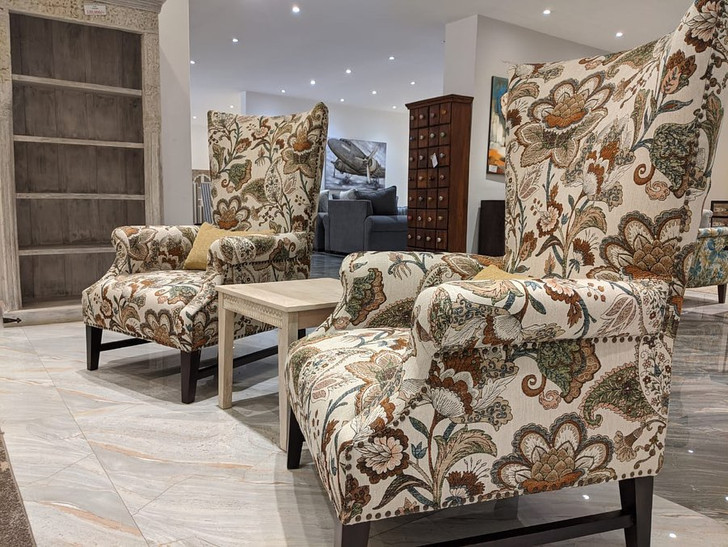 Hampton Wing Chair  In Floral Multi  -OUT OF STOCK