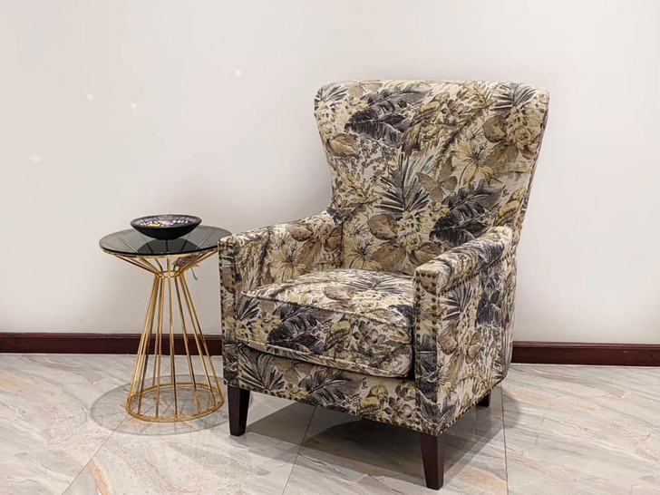 Fulham Accent Chair  In Gold & Grey (JS164-2)