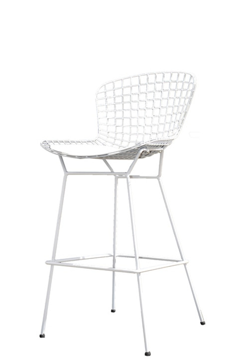 Replica Bertoia Bar Chair In White-OUT OF STOCK
