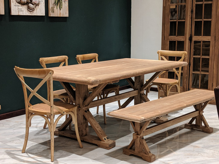 Dining Table Timau (8S) 2m X 1m - (YTE0050) - OUT OF STOCK