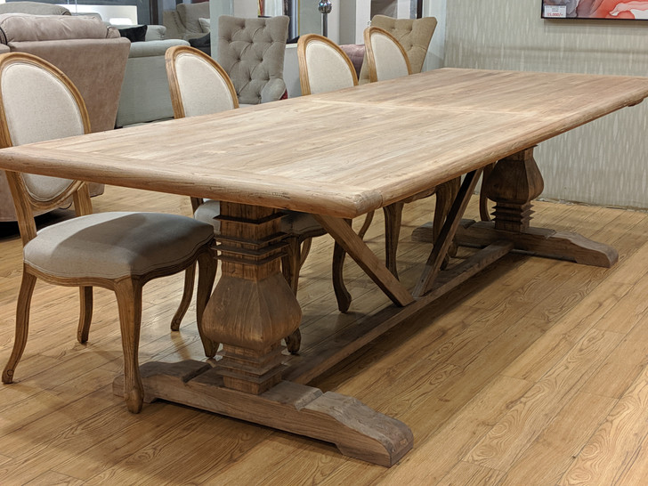 Dining Table Texas (10S) 3m X 1.1m - '(YTE0281) - OUT OF STOCK
