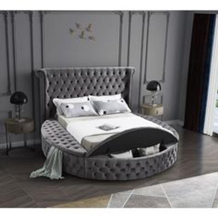 Haven Queen Size Storage Bed in Grey