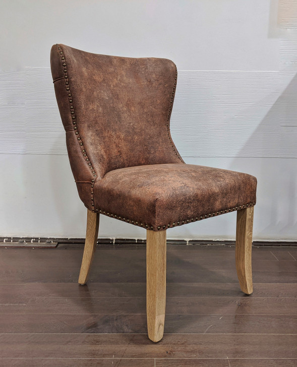 Grace Tufted Back Dining Chair W.o. Arms -In Brown