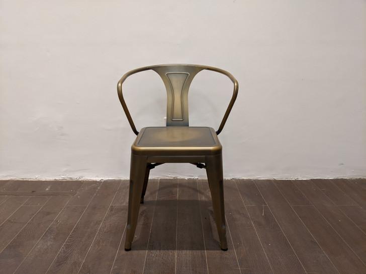 Tolix LB Bistro Chair  In Worn Patina