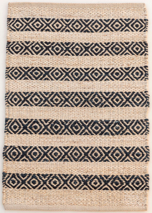 Jute Shuttle Weave Durrie With Hamming - MH-753 - 1.6m X 2.3m