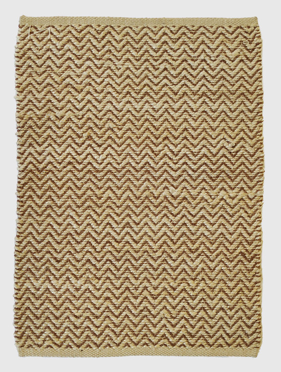 Jute Shuttle Weave Durrie With Hamming - MH-314 - 1.6 X 2.3