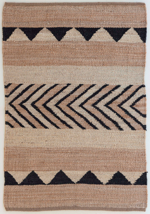 Jute Panja Weave Durrie With Hamming - MH-4161 - 1.6 X 2.3